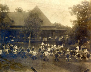 Gymnastics Competition, squats, c. 1915