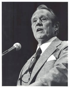 Art Linkletter at dedication of Springfield College's PE Complex (1981)
