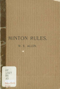 Minton Rules (1896)