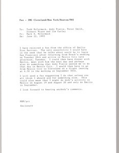 Fax from Mark H. McCormack to Todd McCormack, Andy Pierce, Peter Smith, Steward Mison and Jim Curley