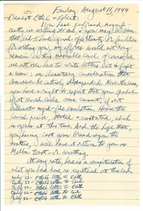 Letter from Carl Henry to Ethel and Robert Levy