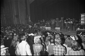 Grateful Dead performing at the Music Hall: view of full band from audience