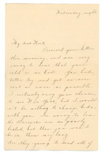 Letter from Letitia Crane to Frank F. Newth