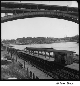 Spuyten Duyvil train station beneath the Henry Hudson Bridge