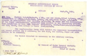 American Expeditionary Forces Special Orders