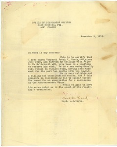 Letter from Carl D. Ford to Unknown