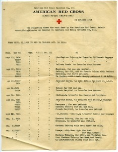 American Red Cross ambulance activity report