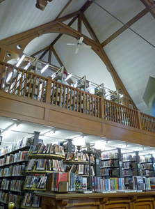 Young Men's Library Association: interior view of book stacks