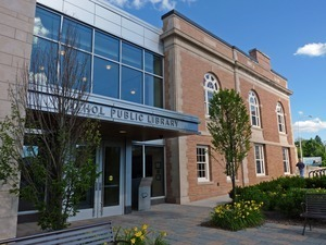 Athol Public Library: exterior view of side entrance
