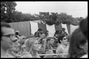 Audience waiting to see Taj Mahal in concert, Newport Folk Festival