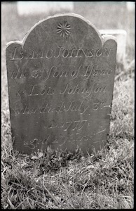 Gravestone of Isaac Johnson (1777), Old Derby Uptown Burying Ground