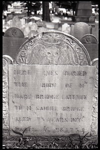 Gravestone of Mary Bridge (1735), Granary Burying Ground