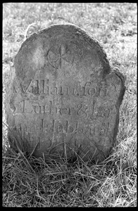Gravestone of William Hubbard (1787), son of Luther and Lavina Hubbard, Town Hill Cemetery