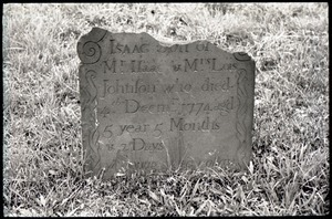 Gravestone of Isaac Johnson (1774), Old Derby Uptown Burying Ground
