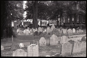 Granary Burying Ground: view across the cemetery