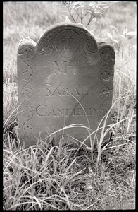 Foot stone of Sarah Canfield (1793), Great Hill Cemetery