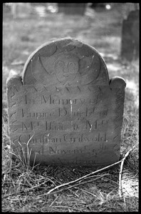 Gravestone of Eunice Griswold (1795), daughter of Isaac and Christian Griswold, Old Poquonock Burying Ground