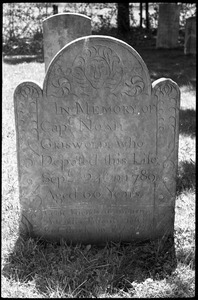 Gravestone of Noah Griswold (1789), Old Poquonock Burying Ground