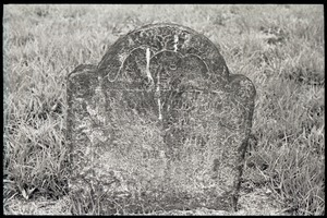 Illegible early gravestone, Old Derby Uptown Burying Ground