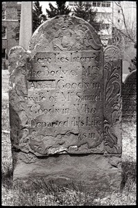 Gravestone of Abigail Goodwin (1748), Ancient Burying Ground