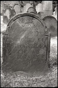 Gravestone of Benet Stanly (1664), Ancient Burying Ground