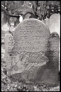 Gravestone of Caleb Stanly (1712), Ancient Burying Ground