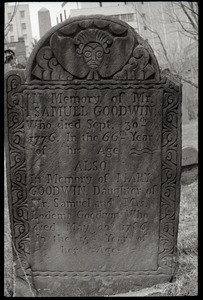 Gravestone of Samuel Goodwin (1776) and Mary Goodwin (1786), Ancient Burying Ground
