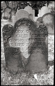 Gravestone of Caleb Stanly (1718), Ancient Burying Ground