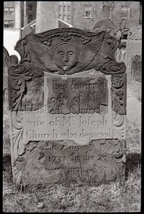 Gravestone of Elisabeth Church (1751), Ancient Burying Ground