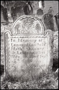 Gravestone of Lennard Skinner (1776), Ancient Burying Ground