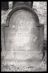 Gravestone of Joseph Stanly (1675), Ancient Burying Ground