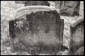 Gravestone of Mary Hosmer (1684), Ancient Burying Ground