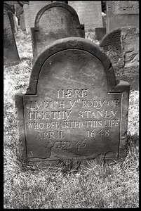 Gravestone of Timothy Stanly (1648), Ancient Burying Ground