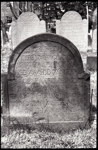 Gravestone of Elizabeth Bacon (1678), Ancient Burying Ground