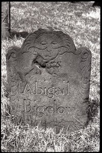 Foot stone of Abigail Bigelow (1757), Ancient Burying Ground