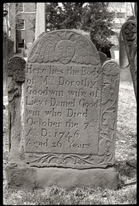 Gravestone of Dorothy Goodwin (1746), Ancient Burying Ground
