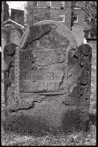 Gravestone of Abigail Bigelow (1757), Ancient Burying Ground