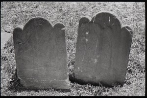 Illegible gravestones, Old Poquonock Burying Ground