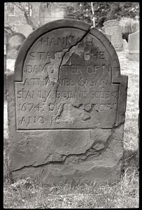 Gravestone of Hannah Stanly (1681), Ancient Burying Ground