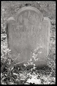 Field gravestone for Constantine Baker (1753), Old Cove Burying Ground