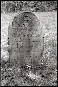 Gravestone for Calvin Church (1787), Second Cemetery
