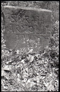 Field gravestone for Sarah Arnold (1714), Old Cove Burying Ground