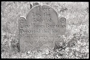 Gravestone for James Bate (1732), Old Cove Burying Ground