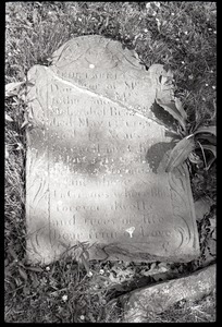 Gravestone for Mehetable Brainerd (1758), Second Cemetery