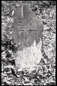Field gravestone engraved S.W., Old Cove Burying Ground