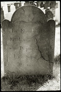 Gravestone of James Wells (1776), Wethersfield Village Cemetery