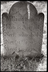 Gravestone for William Neef (1795), Wethersfield Village Cemetery
