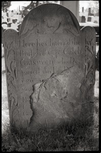 Gravestone of Caleb Griswold (1754), Wethersfield Village Cemetery