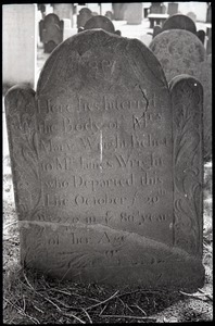 Gravestone of Mary Wright (1749), Wethersfield Village Cemetery