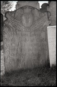 Gravestone for James Knowles (1765), Wethersfield Village Cemetery